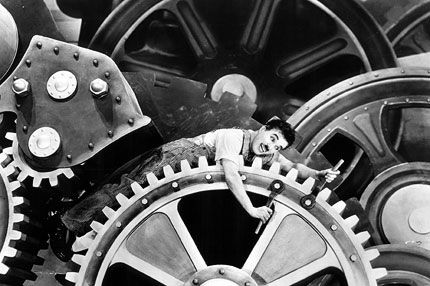 Things never change? Charlie Chaplin from Modern Times (1936) - nearly 80 years ago.